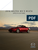 2016 Mazda MX5 Features Specs