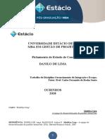 Estudo de Caso Gerenciamento Da Integração e Escopo - Danilo Lima