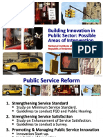 Building Innovation in Public Sector, Possible Areas of Intervention100