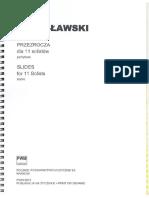 Lutoslawski. Slides (Przezrocza) for 11 Solists