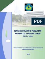 Renstra Penelitian Unila 2016-2020