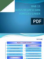 Regresi Korelasi Linear