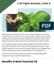 Basil Essential Oil Fights Bacteria, Colds & Bad Odor - Dr