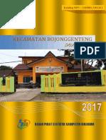 Kecamatan Bojong Genteng Dalam Angka 2017