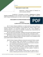 Resolução 01a- Regulamento Da Biblioteca Rv1