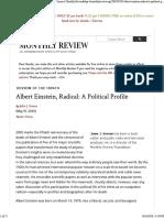 Simon - Albert Einstein, Radical - A Political Profile - MonthlyReview - 2005