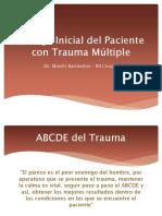 Manejo Inicial Del Paciente Con Trauma Múltiple