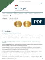 Premio Guayacán – Dirección de Energía