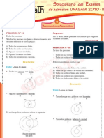 Solucionario Razonamiento Matematico UNASAM 2010 - II
