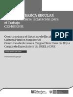 c22-Ebrs-51-Educación Para El Trabajo- Version 1
