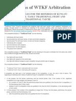 Regulations of WTKF Arbitration