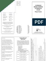 Catholic Highschool Entrance Exam Brochure