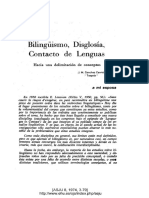 Bilinguismo y Contacto de Lenguas