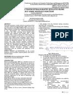 JournalNX- Wavelet Function