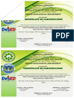 Certificate of Parcitipation