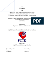 Synopsis Report on Organic Cosmetics by PCTE