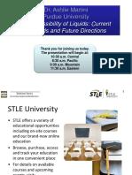 STLE Webinar Presentation - Compressibility of Liquids