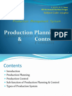 Production Planning Control with Nonclericals