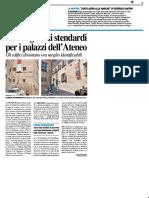 Dodici grandi stendardi per i palazzi dell'Ateneo - Il Resto del Carlino del 10 agosto 2018
