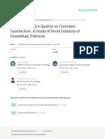 ImpactofServiceQualityonCustomerSatisfactionAStudyofHotelIndustryofFaisalabadPakistan