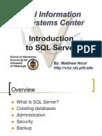 Intro SQL Server