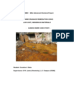 ACID MINE DRAINAGE REMEDIATION USING LOW-COST, INDIGENOUS MATERIALS