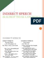 Inggris Indirect Speech