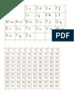 Ficha de letras y números