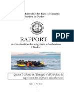 AMPDH (2015). Raport sur la situation des migrants subsahariens a Nador