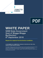 White paper by Committee 4 Wagga