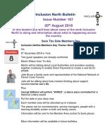 Bulletin 167 - 20th August 2018