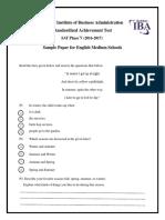 Sample Paper English 3