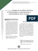 Las epistemologías de la política educativa en Latinoamérica-