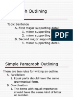 Paragraph Outlining