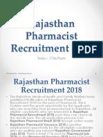 Rajasthan Pharmacist Recruitment 2018