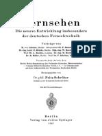 Schröter, Fritz 1937 Fernsehen Die neuere Entwicklung