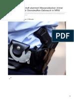 Welt.de-polizei-Gewerkschaft Alarmiert Messerattacken Immer Häufiger Grund Für Dienstwaffen-Gebrauch in NRW