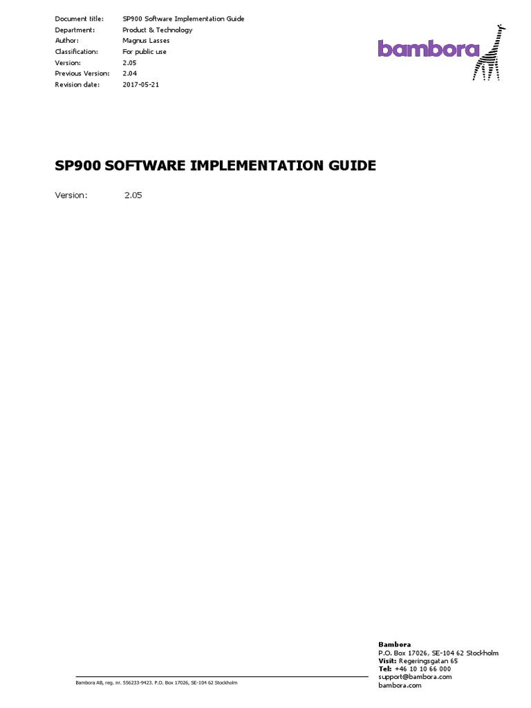 SP900 Software Imp  Guide v2_05 | Payment Card Industry Data