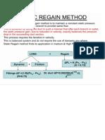 Static Regain Method Principle