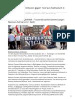 Faz.net-Tausende Demonstrieren Gegen Neonazi-Aufmarsch in Berlin