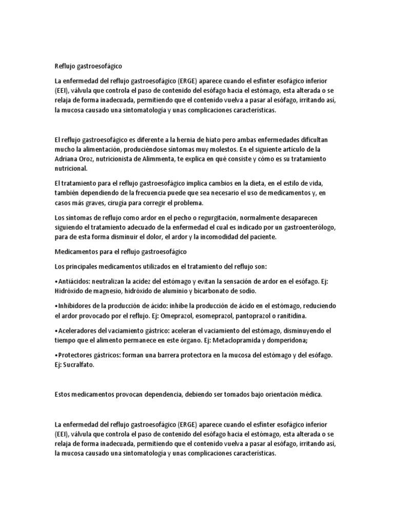 tratamiento nutricional para reflujo gastroesofagico pdf