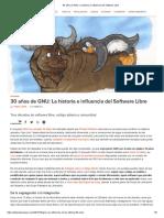 30 años software libre