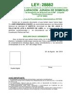 Declaracion Jurada de Domicilio a Color - Para Llenar - 2013 Tipeado 28882 -- Carlos Martin Gutierrez
