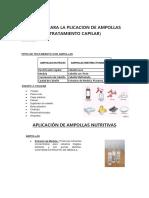 Tecnica Aplicacion de Ampollas(Tto Capilar)