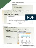 Algunas Funciones Básicas de Excel