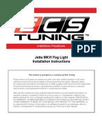 Fog Light Installation Guide