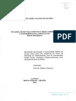 DISSERTAÇÃO_Mulher, Desenvolvimento e Meio Ambiente_ a Experiência Da Associação Mãos Mineiras