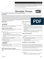 Trintrac. Sludge Recirculation. SHREDDER PUMP MANUAL