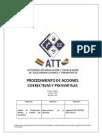 5. IN005 Procedimiento de Acciones Preventivas y Correctivas