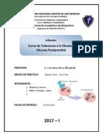 Curva de Tolerancia a La Glucosa y Glucosa Posprandial